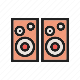 audio, equipment, music, sound, speaker, speakers, stereo icon