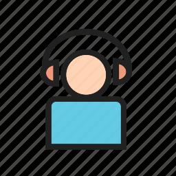 headphones, listen, listening, music, song, sound icon