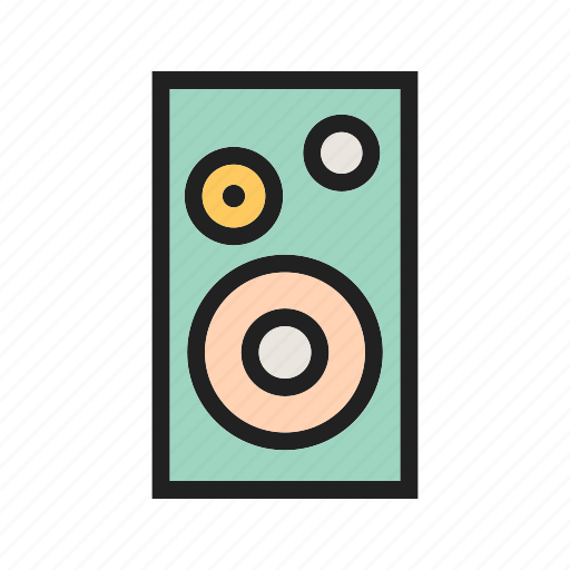 audio, bass, equipment, loud, music, sound, speaker icon