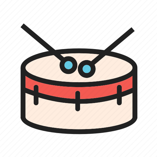 drum, drums, equipment, instrument, music, musical, snare icon
