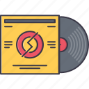 band, instrument, music, record, song, vinyl icon