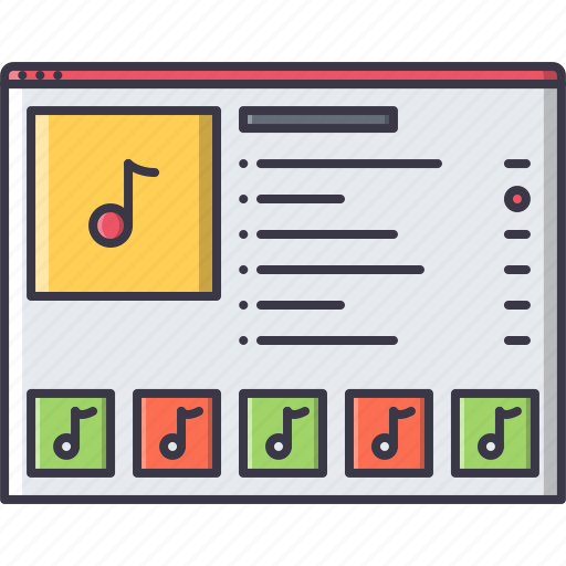 band, instrument, music, online, song icon