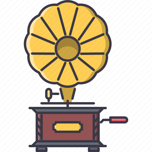 band, gramophone, instrument, music, song icon