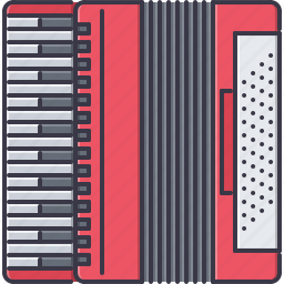 accordion, band, instrument, music, song icon