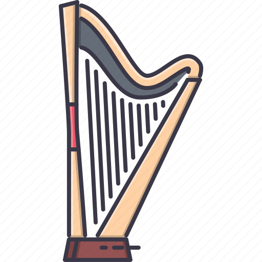 band, harp, instrument, music, song icon