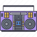 band, boombox, instrument, music, player, song icon
