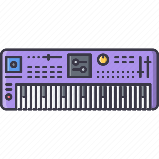 band, instrument, music, song, synthesizer icon