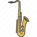 band, instrument, music, saxophone, song