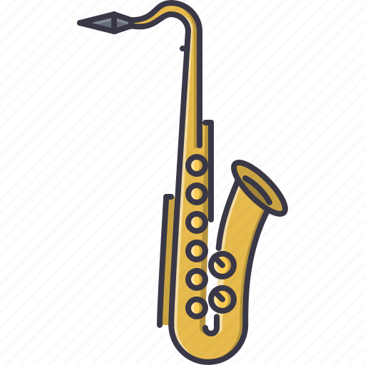 band, instrument, music, saxophone, song icon