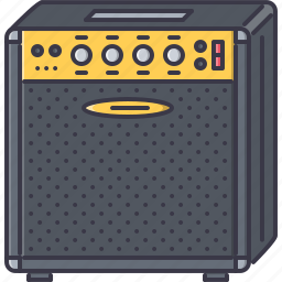 amplifier, band, guitar, instrument, music, song icon