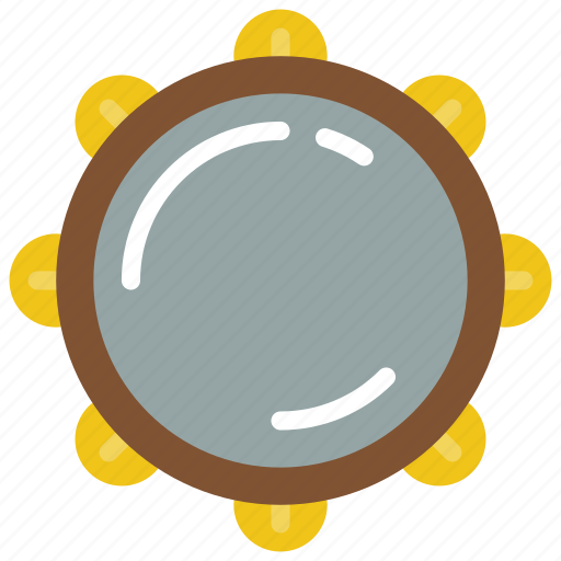 instruments, music, percussion, tamborine icon