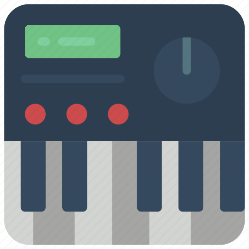electric, instruments, keyboard, music icon