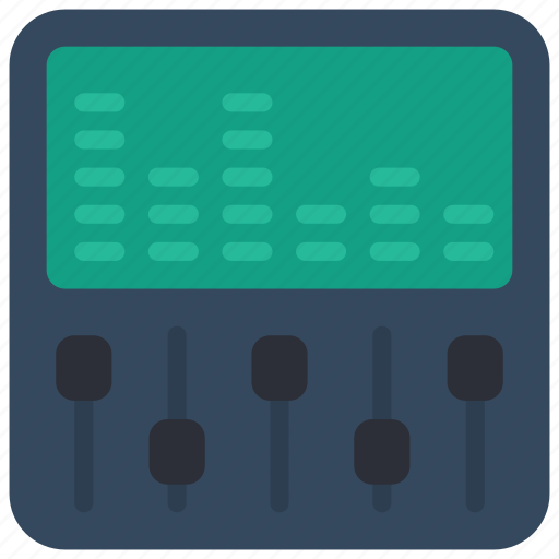 instruments, music, recording, synth, synthesizer icon