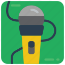 instruments, mic, microphone, music, recording, sing icon
