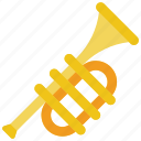 brass, instruments, music, trumpet icon