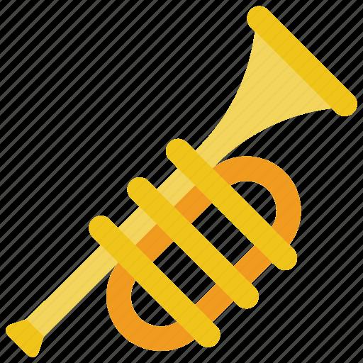 brass, instruments, music, trumpet icon