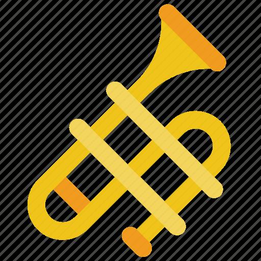 brass, instruments, music, trombone icon