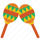 instruments, maracas, music, percussion icon