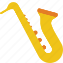 brass, instruments, music, sax, saxophone, wind icon