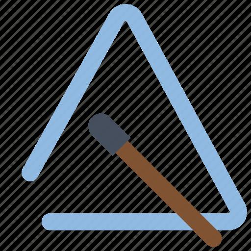 instruments, music, percussion, triangle icon