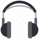 headphones, instruments, media, music, player icon