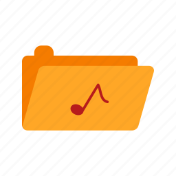 file, folder, music, musical, note, notes, technology icon