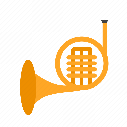 brass, french, horn, instruments, music, musical icon