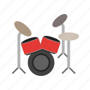 drum, drummer, drums, jazz, music, rock, set icon