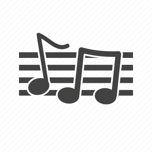 graphic, melody, music, musical, note, notes, staff icon