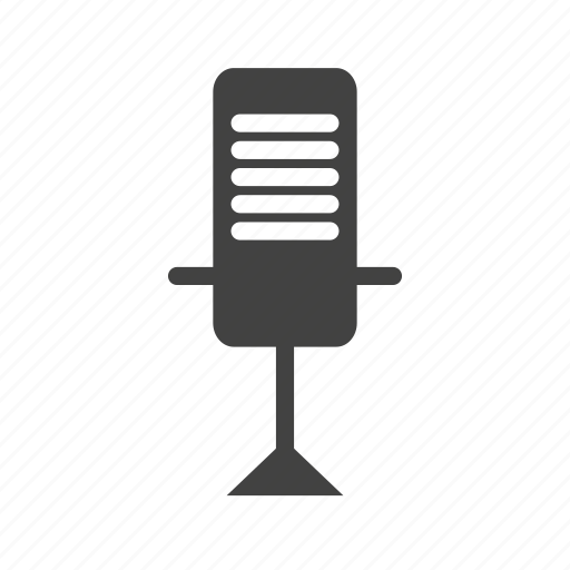 desk, microphone, music, news, radio, sound icon
