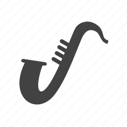 entertainment, instrument, jazz, music, musical, saxophone icon