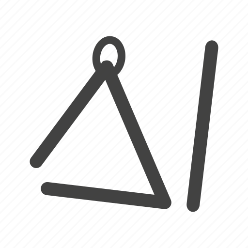 instrument, music, musical, play, shape, triangle icon