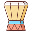 djembe, instrument, music, sound icon