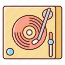 dj, mixer, music, turntable icon