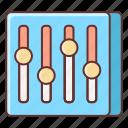 equalizer, multimedia, music, sound icon