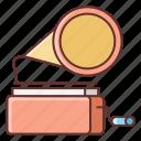 gramophone, instrument, music, sound icon