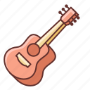 guitar, instrument, music, sound