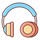 headphone, headset, music, sound icon