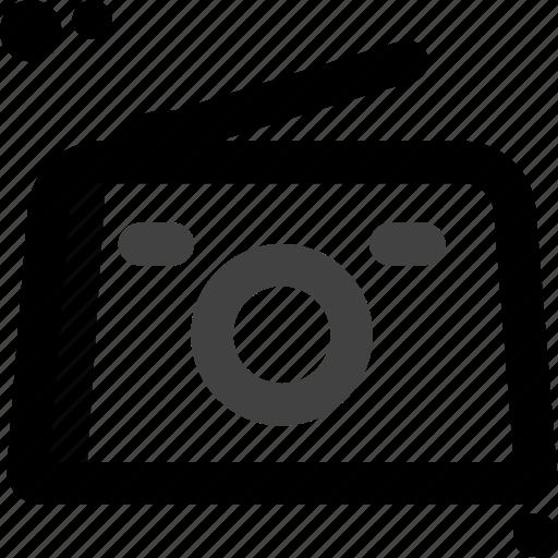 audio, multimedia, music, player, radio, sound, vintage icon