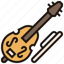 bass, contrabass, double, orchestra, symphony icon