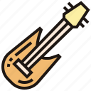 bass, electric, guitar, instrument, rock icon