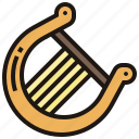 classical, harp, instrument, orchestra, string icon