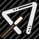 beat, percussion, rhythm, sound, triangle icon