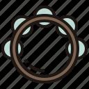 bell, jingle, percussion, rhythm, tambourine icon