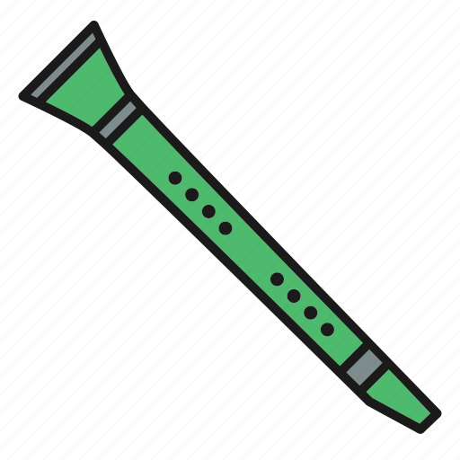 clarinet, entertainment, music, musical, rhythm, song, wind instruments icon