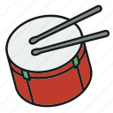 drum, entertainment, music, music tool hit, musical, rhythm, song icon