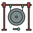 entertainment, gong, music, music tool hit, musical, rhythm, song icon