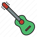 entertainment, guitar, music, musical, rhythm, song, stringed instrument icon