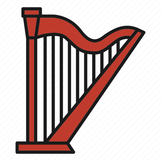 Entertainment, harp, music, musical, rhythm, song, stringed instrument icon - Download on Iconfinder