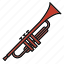 entertainment, music, musical, rhythm, song, trumpet, wind instruments icon